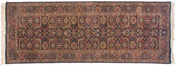 3x10 kerman blue oriental rug runner 038724