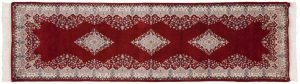 3×10 Kerman Oriental Red Hand-Knotted Rug Runner
