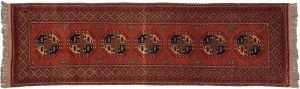 3×10 Taghan Oriental Rust Hand-Knotted Rug Runner