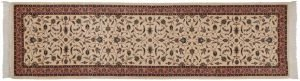 3×11 Vintage Persian Oriental Ivory Hand-Knotted Rug Runner