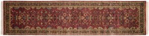 3×12 Agra Oriental Red Hand-Knotted Rug Runner