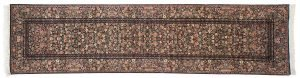 3×12 Aubusson Oriental Blue Hand-Knotted Rug Runner