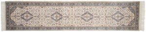 3×12 Vintage Kashan Oriental Ivory Hand-Knotted Rug Runner