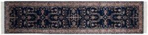 3×12 Vintage Sarouk Oriental Blue Hand-Knotted Rug Runner