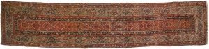 3×14 Antique Persian Hamadan Oriental Rust Hand-Knotted Rug Runner