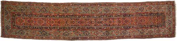 3x14 persian hamedan rust oriental rug runner 033031