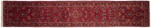 3×15 Persian Sarouk Oriental Rose Hand-Knotted Rug Runner