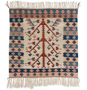 3×3 Kilim Oriental Ivory Kilim (Flatweave) Square Rug