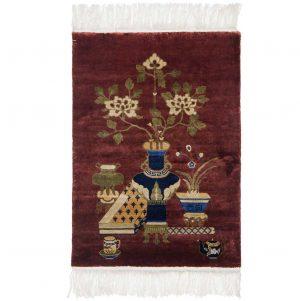 3×4 Vintage Peking Oriental Rust Hand-Knotted Rug
