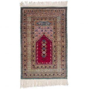 3×4 Caesaria Oriental Rose Hand-Knotted Rug