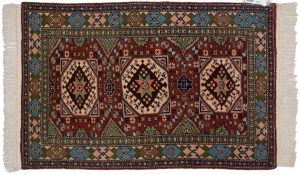 3×4 Caesaria Oriental Rust Hand-Knotted Rug