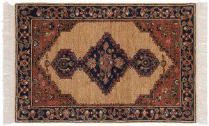 3×4 Hamadan Oriental Beige Hand-Knotted Rug