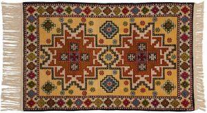 3×4 Kazak Oriental Gold Hand-Knotted Rug