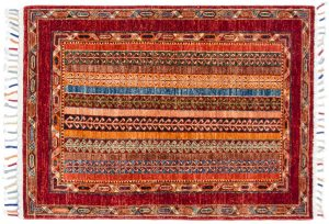 3×4 Kazak Oriental Multi Color Hand-Knotted Rug