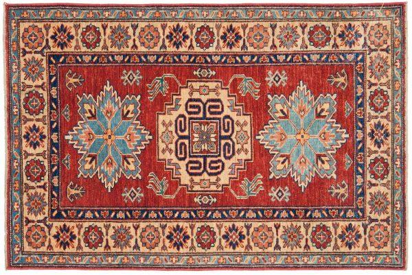 3x4 kazak red oriental rug 044902