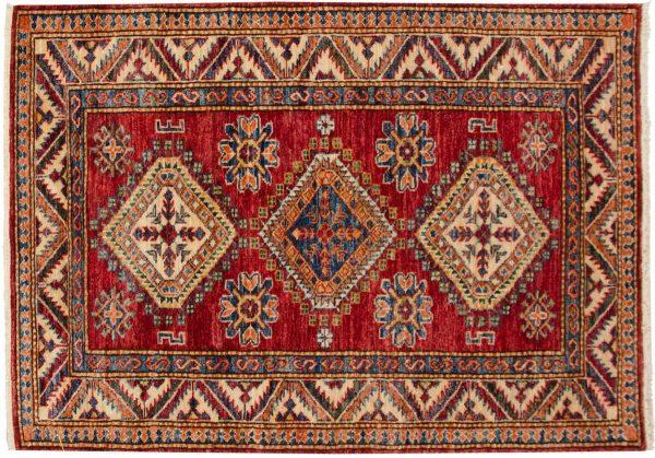 3x4 kazak red oriental rug 048848