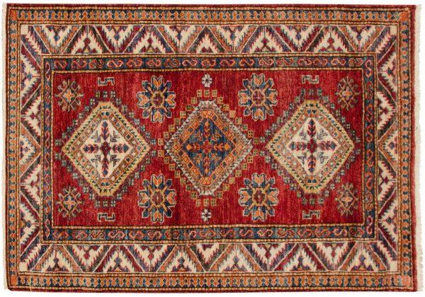 3x4 kazak red oriental rug 048849