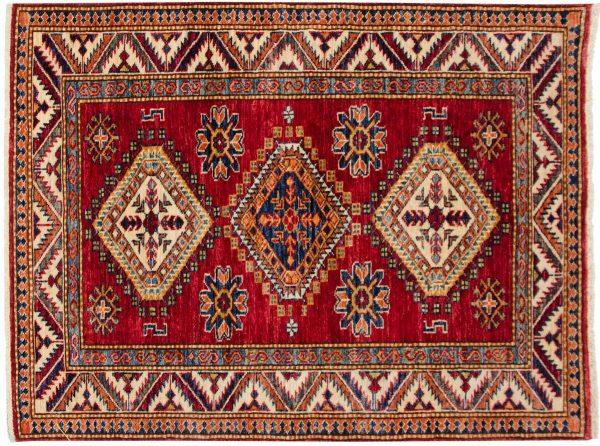3x4 kazak red oriental rug 048850