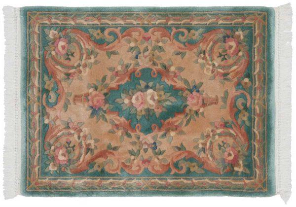 3x4 peking green oriental rug 029642