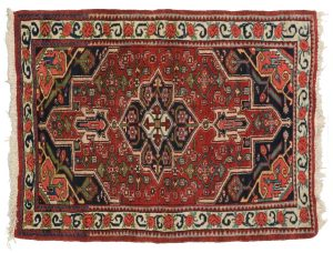3×4 Persian Bijar Oriental Red Hand-Knotted Rug