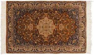 3×4 Vintage Persian Oriental Rust Hand-Knotted Rug