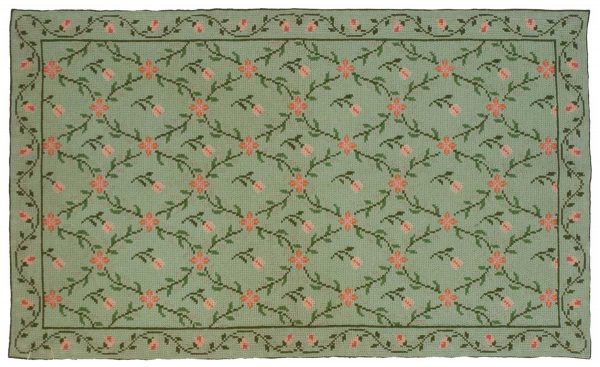 3x5 afurada green oriental rug 028353