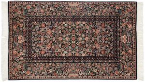3×5 Aubusson Oriental Blue Hand-Knotted Rug