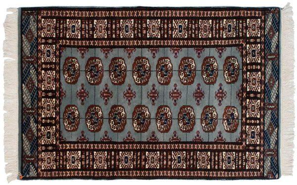 3x5 bokhara blue oriental rug 023264