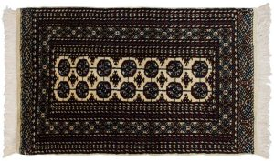 3×5 Bokhara Oriental Ivory Hand-Knotted Rug