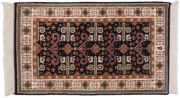 3x5 caucasian blue oriental rug 048204