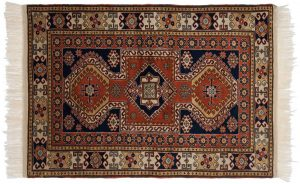 3×5 Vintage Caucasian Oriental Rust Hand-Knotted Rug