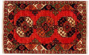 3×5 Ersari Oriental Rust Hand-Knotted Rug