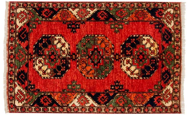 3x5 ersari rust oriental rug 048867
