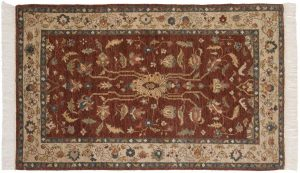 3×5 Hamadan Oriental Brown Hand-Knotted Rug