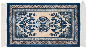 3×5 Peking Oriental Ivory Hand-Knotted Rug