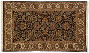 3×5 Jaipur Oriental Black Hand-Knotted Rug