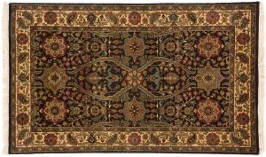 3×5 Jaipur Oriental Brown Hand-Knotted Rug