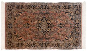 3×5 Vintage Kashan Oriental Rose Hand-Knotted Rug