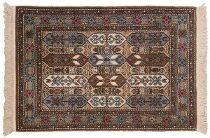 3×5 Vintage Kazak Oriental Beige Hand-Knotted Rug