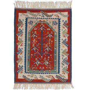 3×5 Kilim Oriental Red Kilim (Flatweave) Rug