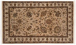 3×5 Mahal Oriental Beige Hand-Knotted Rug