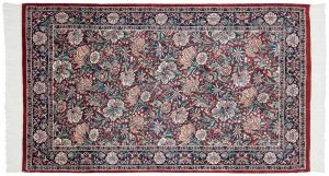 3×5 Floral Oriental Red Hand-Knotted Rug