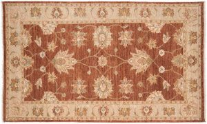 3×5 Caicasian Oriental Rust Hand-Knotted Rug