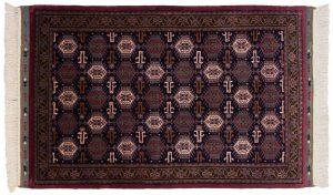 3×5 Vintage Saddlebag Oriental Blue Hand-Knotted Rug