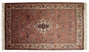 3×5 Vintage Sarouk Oriental Rose Hand-Knotted Rug