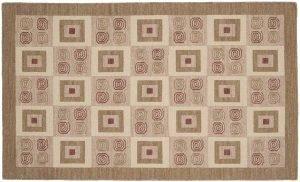 3×5 Soumak Oriental Beige Soumak Weave Rug