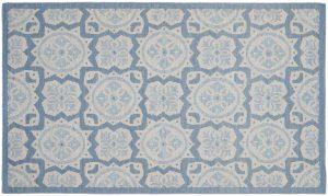 3×5 Soumak Oriental Blue Soumak Weave Rug