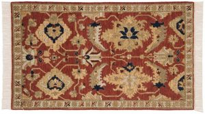 3×5 Sultanabad Oriental Rust Hand-Knotted Rug