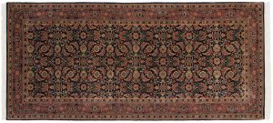 3×6 Herati Oriental Blue Hand-Knotted Rug Runner
