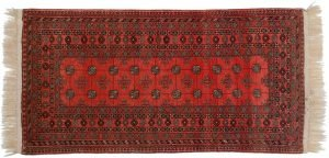3×6 Daulatabad Oriental Red Hand-Knotted Rug